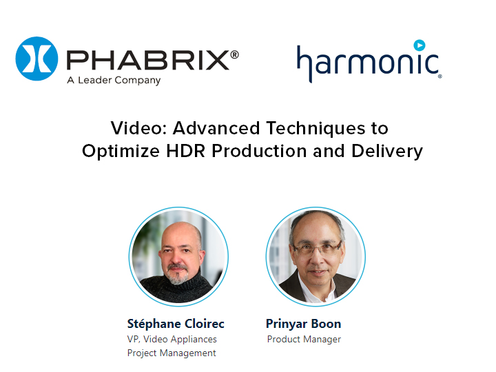 Advanced Techniques to Optimize HDR Production and Delivery