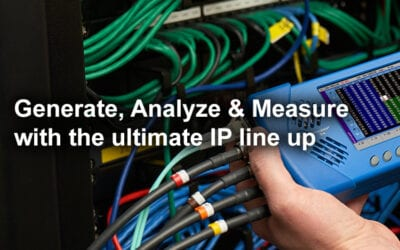 Generate, Analyze & Measure with the ultimate PHABRIX IP line up