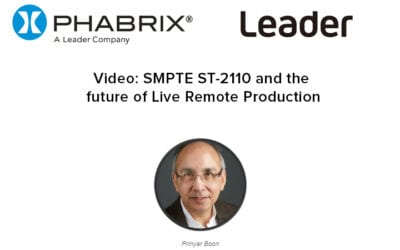 SMPTE ST-2110 and the future of Live Remote Production