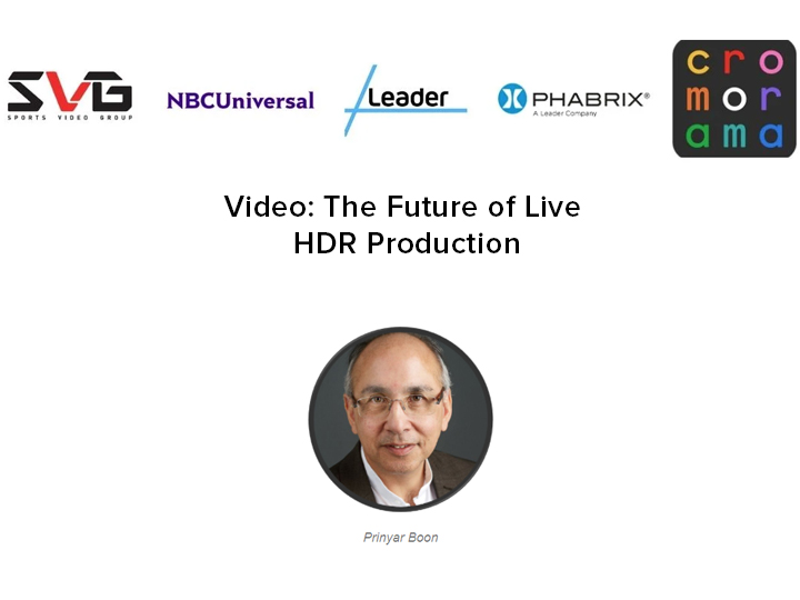 The Future of Live HDR Production