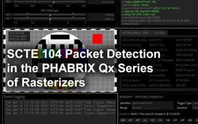 SCTE 104 Packet Detection in the PHABRIX Qx Series of Rasterizers