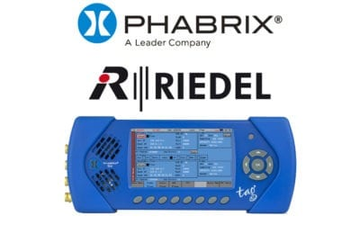 PHABRIX and Riedel partner to expand on the 2110 & 2022-6 functionalities in Sx TAG IP